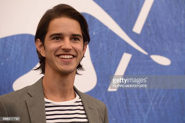 Actor Joseph Haro poses during a photocall of the movie L'Estate Addosso presented out of competition at the 73rd Venice Film Festival on August 31...