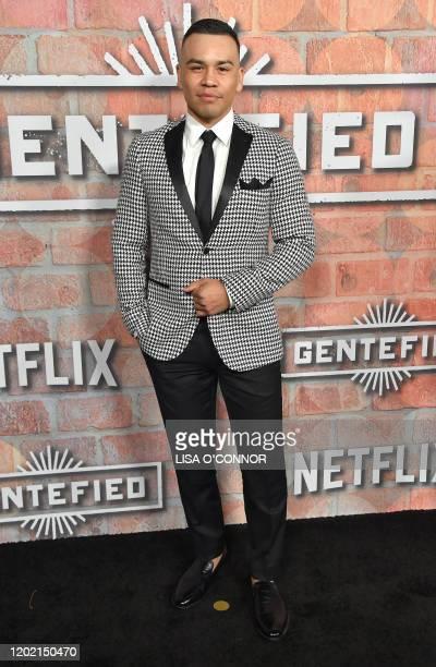 Actor Joseph Julian Soria arrives for Netflix's Gentefied premiere at Plaza De La Raza gallery in Los Angeles on February 20 2020