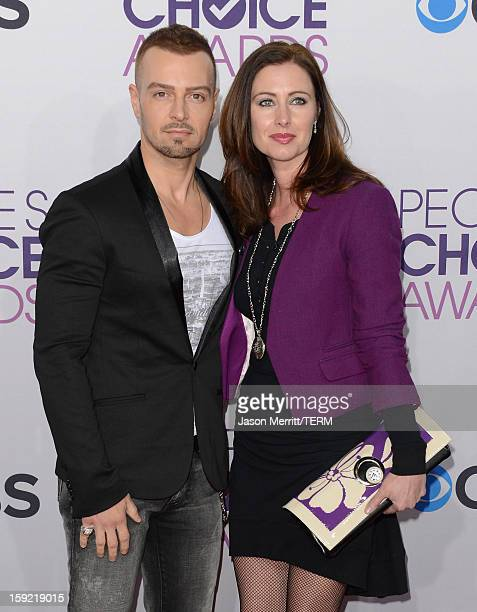 Actor Joseph Lawrence and Chandie YawnNelson attend the 39th Annual People's Choice Awards at Nokia Theatre LA Live on January 9 2013 in Los Angeles...