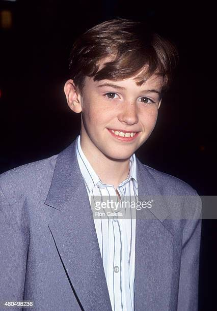 Actor Joseph Mazzello attends The Cure New York City Premiere on April 18 1995 at Planet Hollywood in New York City