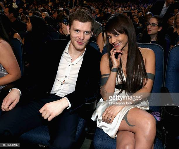 Actor Joseph Morgan and actress Persia White attend The 40th Annual People's Choice Awards at Nokia Theatre LA Live on January 8 2014 in Los Angeles...