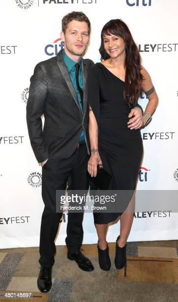 """Actor Joseph Morgan and Persia White attend The Paley Center for Media's PaleyFest 2014 Honoring """"The Vampire Diaries"""" and """"The Originals"""" at the..."""