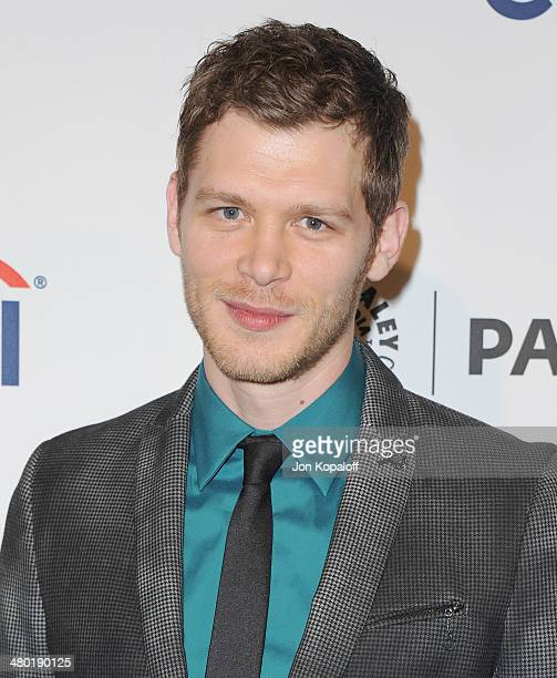 """Actor Joseph Morgan arrives at the 2014 PaleyFest - """"The Vampire Diaries"""" & """"The Originals"""" on March 22, 2014 in Hollywood, California."""