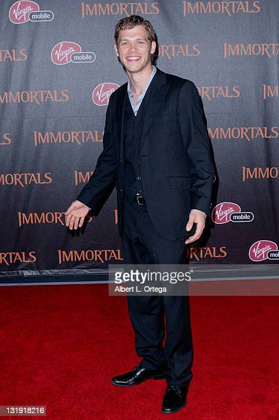 """Actor Joseph Morgan arrives for the Premiere Of Relativity Media's """"Immortals"""" Presented In RealD 3D held at Nokia Theatre L.A. Live on November 7,..."""