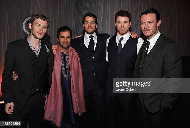 "Actor Joseph Morgan, director Tarsem Singh, actors Henry Cavill, Kellan Lutz and Luke Evans attend ""Immortals 3D"" after party at Nokia Theatre L.A...."