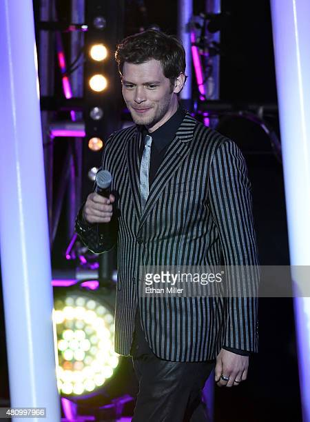 Actor Joseph Morgan introduces a performance by All Time Low during the MTV Fandom Fest San Diego ComicCon at PETCO Park on July 9 2015 in San Diego...