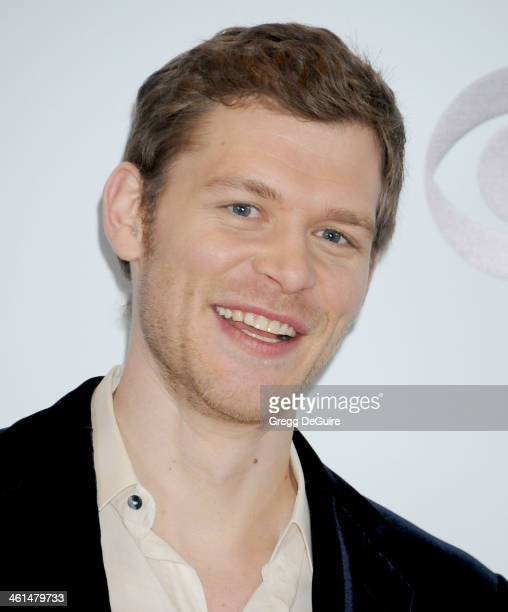 Actor Joseph Morgan poses in the press room at the 40th Annual People's Choice Awards at Nokia Theatre LA Live on January 8 2014 in Los Angeles...