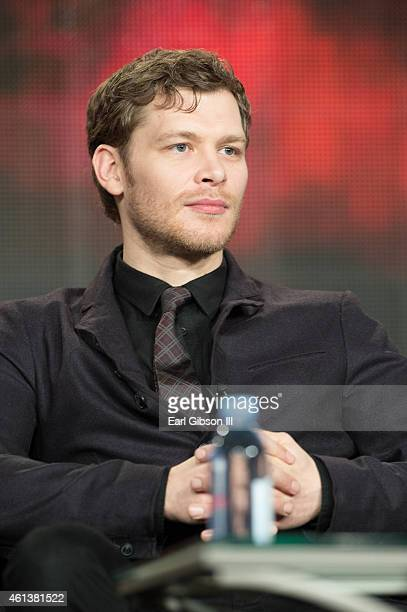 Actor Joseph Morgan speaks onstage during 'The Vampire Diaries' and 'The Originals' panel as part of The CW 2015 Winter Television Critics...
