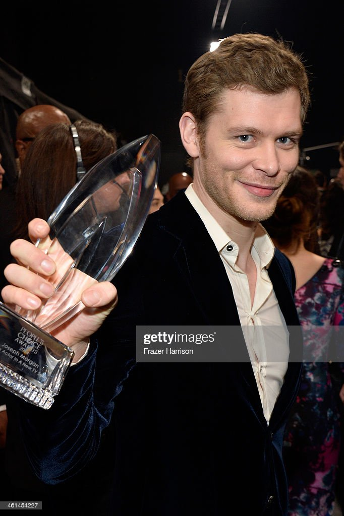Actor Joseph Morgan, winner of the Favorite Actor In A New TV Series award for 'The Originals,' attends The 40th Annual People's Choice Awards at Nokia Theatre L.A. Live on January 8, 2014 in Los Angeles, California.