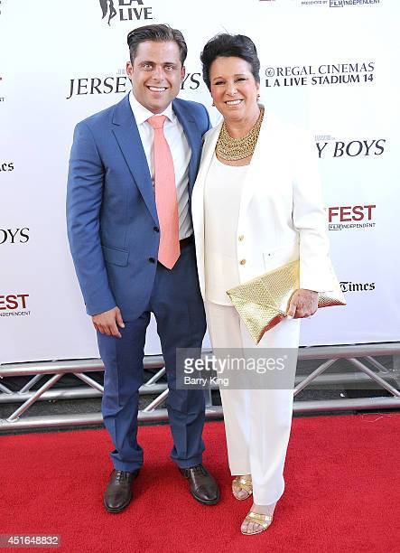 Actor Joseph Russo and his mom attend the 2014 Los Angeles Film Festival closing night premiere of 'Jersey Boys' at Premiere House on June 19 2014 in...