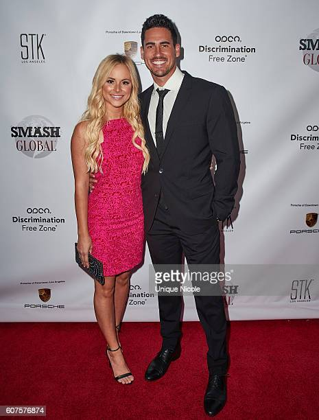 Actor Josh Allen Murray and Amanda Stanton attends the Smash Global IV Event at Taglyan Complex on September 15 2016 in Los Angeles California
