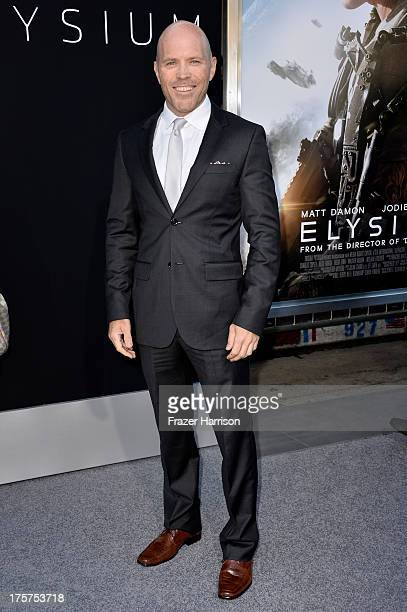 Actor Josh Blacker arrives at the premiere of TriStar Pictures' Elysium at Regency Village Theatre on August 7 2013 in Westwood California
