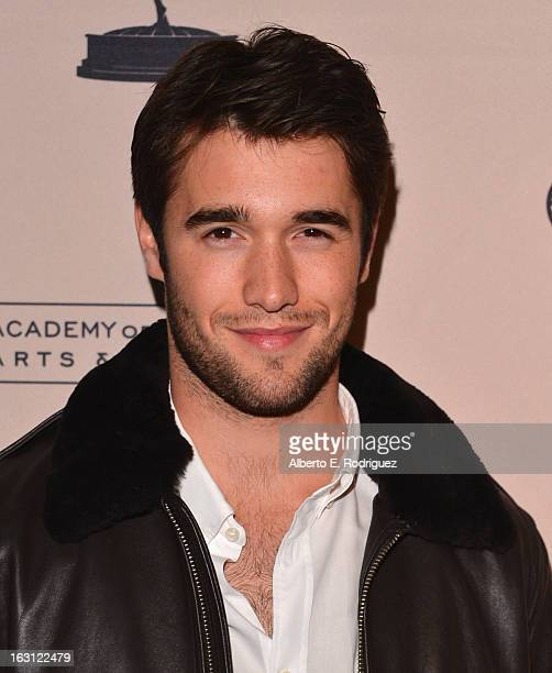Actor Josh Bowman arrives to the Academy of Television Arts and Sciences' An Evening with Revenge at Leonard H Goldenson Theatre on March 4 2013 in...