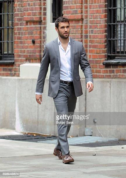 Actor Josh Bowman on the set of 'Time After Time' on September 1 2016 in New York City