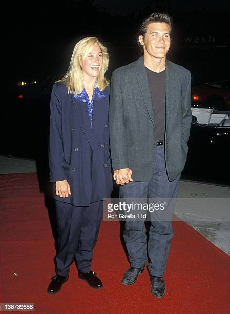 Actor Josh Brolin and date Alice Adair attend the Screening of the NBC MadeforTelevision Movie 'Deep Dark Secrets' on September 9 1987 at the DGA...