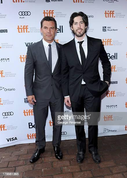 "Actor Josh Brolin and filmmaker Jason Reitman attend the ""Labor Day"" premiere during the 2013 Toronto International Film Festival at Ryerson Theatre..."