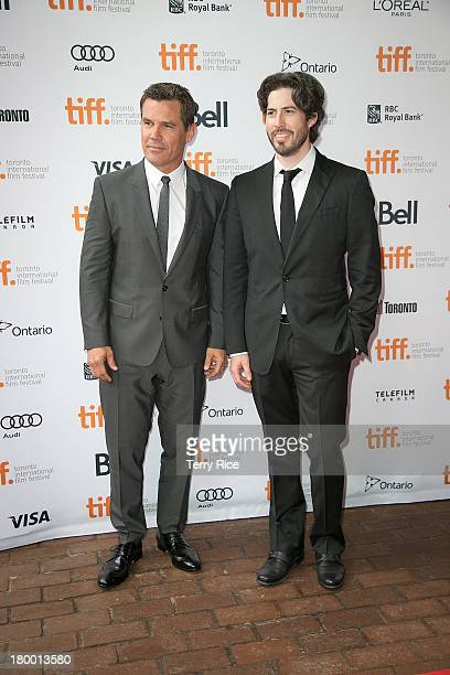 Actor Josh Brolin and filmmaker Jason Reitman attend the 'Labor Day' premiere during the 2013 Toronto International Film Festival at Ryerson Theatre...