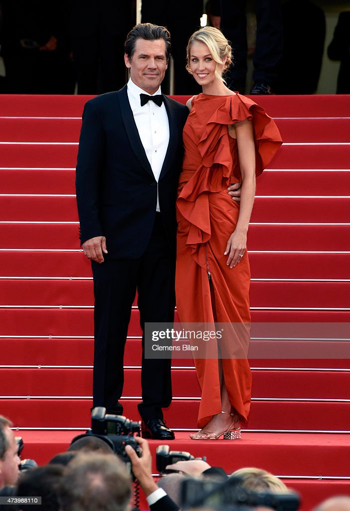 Actor Josh Brolin and his fiancee Kathryn Boyd attend the Premiere of 'Sicario' during the 68th annual Cannes Film Festival on May 19, 2015 in Cannes, France.