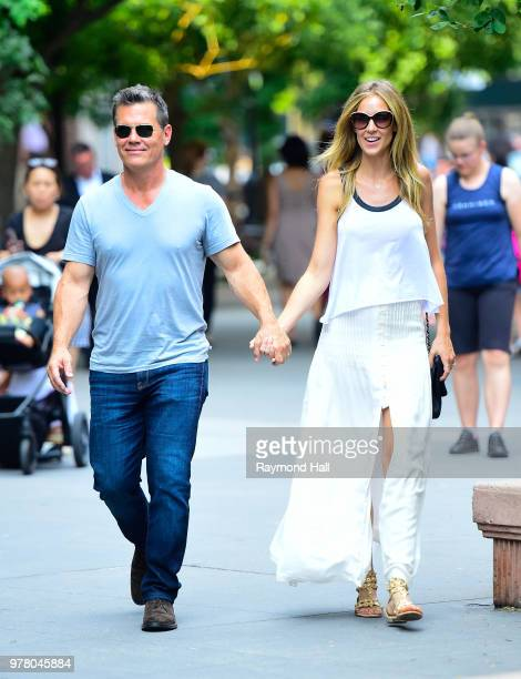 Actor Josh Brolin and Kathryn Boyd are seen walking in Soho on June 18 2018 in New York CityPhoto by Raymond Hall/GC Images