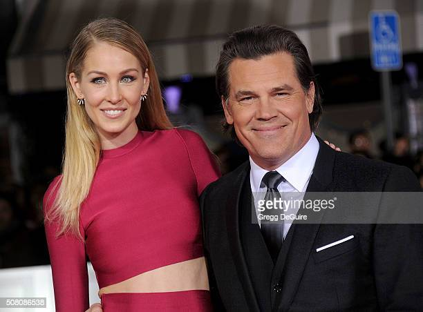 Actor Josh Brolin and Kathryn Boyd arrive at the premiere of Universal Pictures' 'Hail Caesar' at Regency Village Theatre on February 1 2016 in...