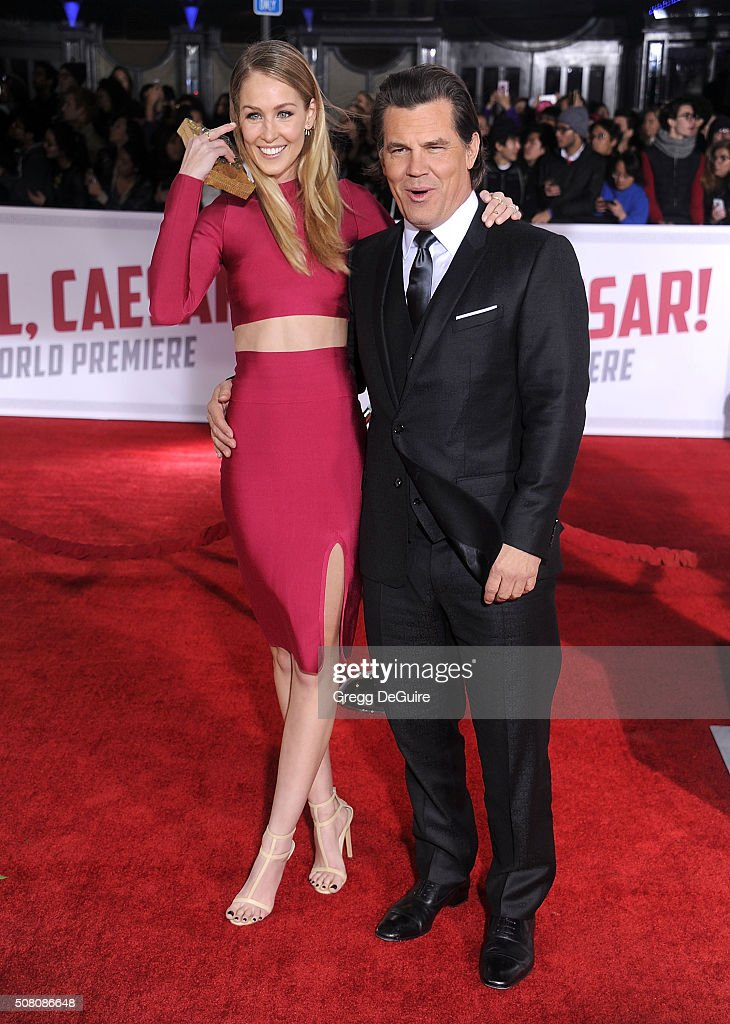 Actor Josh Brolin and Kathryn Boyd arrive at the premiere of Universal Pictures' 'Hail, Caesar!' at Regency Village Theatre on February 1, 2016 in Westwood, California.