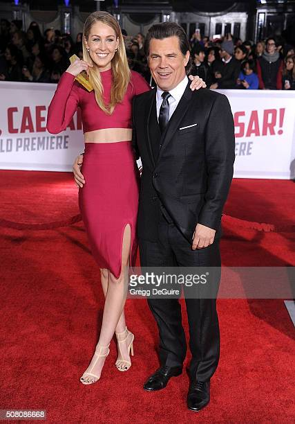 Actor Josh Brolin and Kathryn Boyd arrive at the premiere of Universal Pictures' Hail Caesar at Regency Village Theatre on February 1 2016 in...