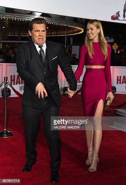 Actor Josh Brolin and Kathryn Boyd arrive at The Universal Premiere of Hail Caesar at the Regency Village Theatre in Westwood California February 1...