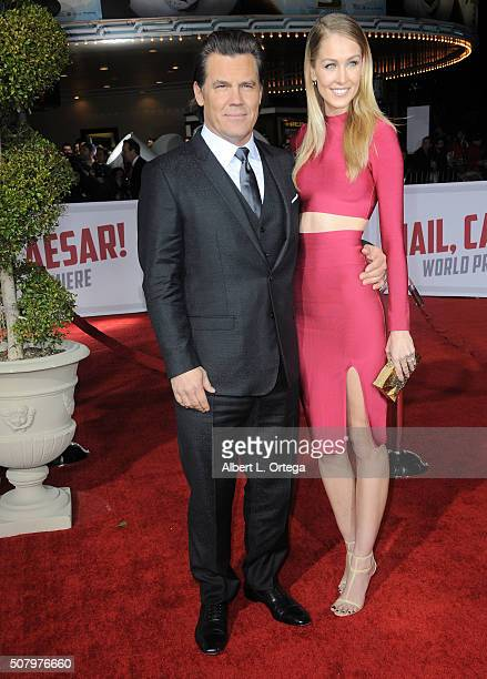 Actor Josh Brolin and Kathryn Boyd arrive for the Premiere Of Universal Pictures' Hail Caesar held at Regency Village Theatre on February 1 2016 in...