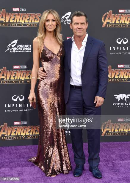 Actor Josh Brolin and Kathryn Boyd attend the premiere of Disney and Marvel's 'Avengers Infinity War' on April 23 2018 in Hollywood California