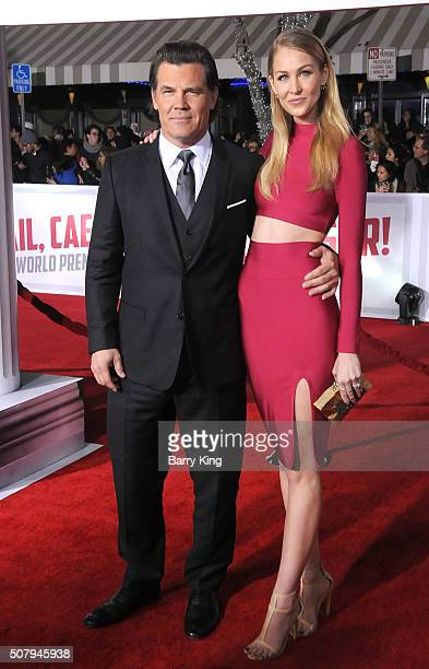 Actor Josh Brolin and Kathryn Boyd attend the Premiere of Universal Pictures' 'Hail Caesar' at the Regency Village Theatre on February 1 2015 in...