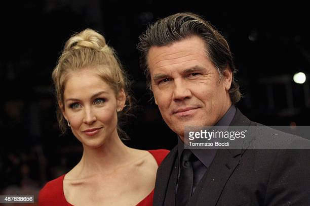 Actor Josh Brolin and Kathryn Boyd attend the 'Sicario' premiere during the 2015 Toronto International Film Festival at Princess of Wales Theatre on...