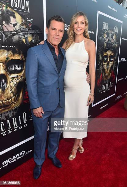Actor Josh Brolin and model Kathryn Boyd attend the premiere of Columbia Pictures' 'Sicario Day Of The Soldado' at Regency Village Theatre on June 26...