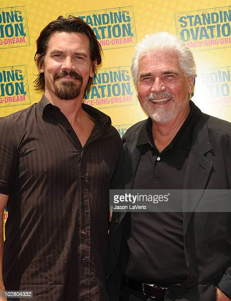 Actor Josh Brolin and producer James Brolin attend the premiere of 'Standing Ovation' at Universal CityWalk on July 10 2010 in Universal City...