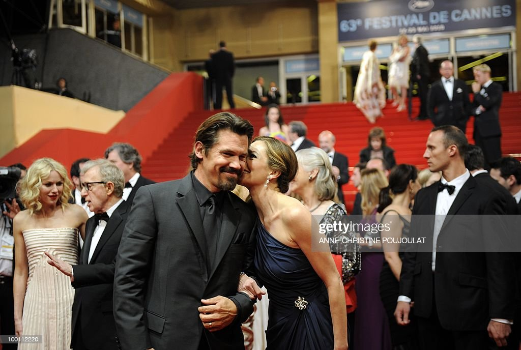US actor Josh Brolin (L) and US actress Diane Lane leave after the screening of 'You Will Meet a Tall Dark Stranger' presented out of competition at the 63rd Cannes Film Festival on May 15, 2010 in Cannes.