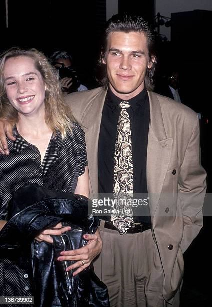 Actor Josh Brolin and wife Alice Adair attend the ABC Television Affiliates Party on June 14 1989 at the Century Plaza Hotel in Century City...