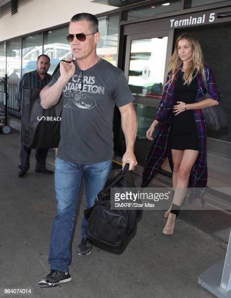 Actor Josh Brolin and wife Kathryn Boyd are seen on October 20 2017 in Los Angeles CA