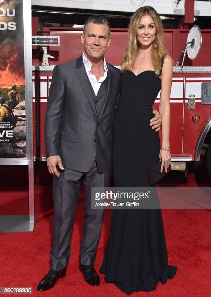 Actor Josh Brolin and wife Kathryn Boyd arrive at the premiere of 'Only the Brave' at Regency Village Theatre on October 8 2017 in Westwood California