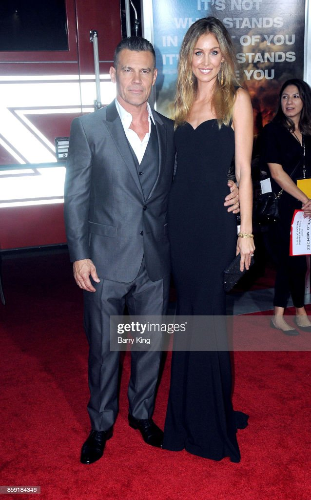 Actor Josh Brolin and wife Kathryn Boyd attend the premiere of Columbia Pictures' 'Only The Brave' at Regency Village Theatre on October 8, 2017 in Westwood, California.