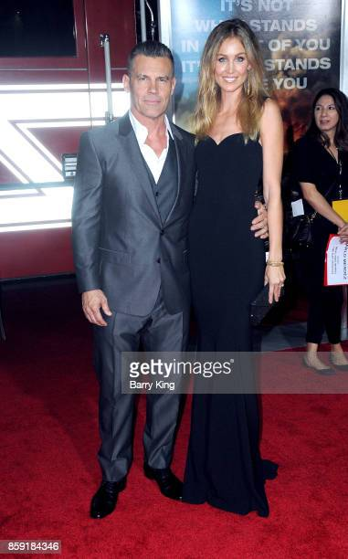 Actor Josh Brolin and wife Kathryn Boyd attend the premiere of Columbia Pictures' 'Only The Brave' at Regency Village Theatre on October 8 2017 in...