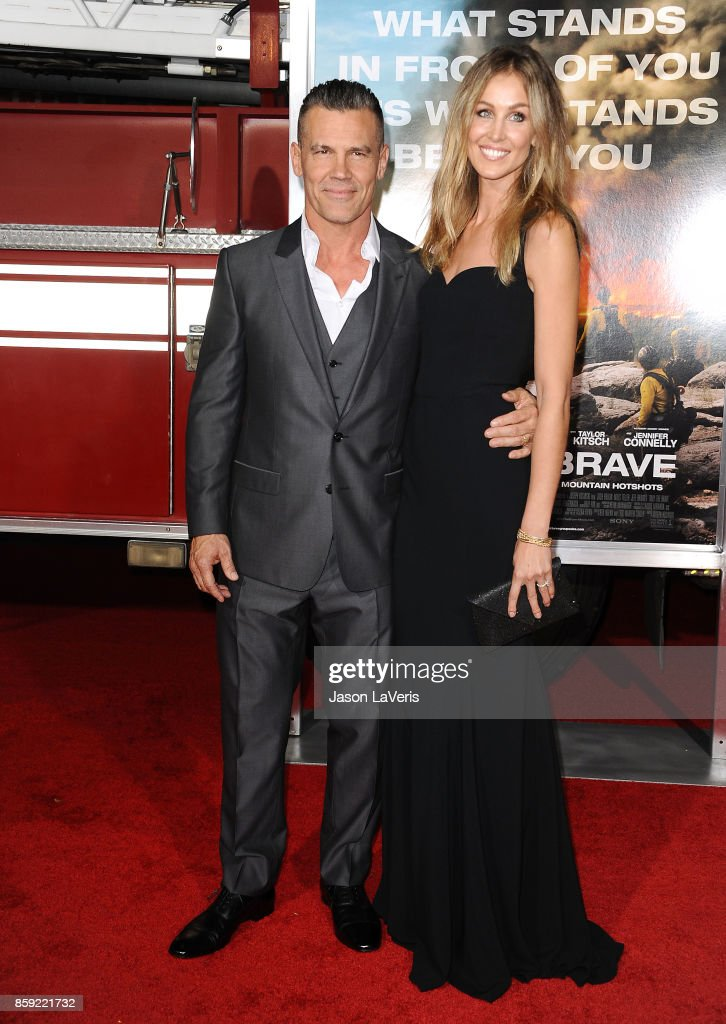Actor Josh Brolin and wife Kathryn Boyd attend the premiere of 'Only the Brave' at Regency Village Theatre on October 8, 2017 in Westwood, California.