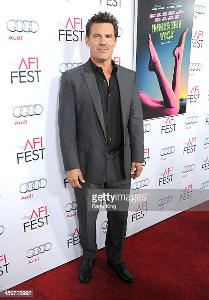 Actor Josh Brolin arrives at AFI FEST 2014 Presented by Audi Gala Premiere of 'Inherent Vice' at the Egyptian Theatre on November 8 2014 in Hollywood...