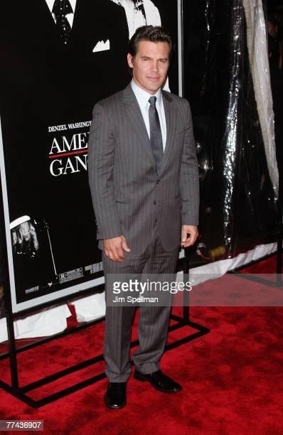 Actor Josh Brolin arrives at American Gangster premiere at the Apollo Theater on October 19 2007 in New York City New York