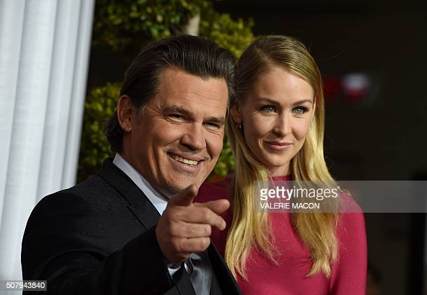 Actor Josh Brolin arrives at The Universal Premiere of Hail Caesar at the Regency Village Theatre in Westwood California February 1 2016 / AFP /...
