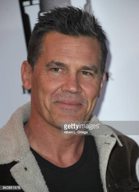 Actor Josh Brolin arrives for the premiere of 'Blood Feast' held at Ahrya Fine Arts Theater on April 6 2018 in Beverly Hills California