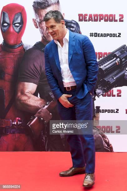 Actor Josh Brolin attends 'Deadpool 2' photocall at the Villamagna Hotel on May 7 2018 in Madrid Spain