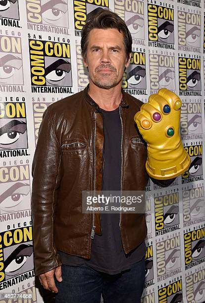 Actor Josh Brolin attends Marvel's Hall H Press Line for AntMan and Avengers Age Of Ultron during ComicCon International 2014 at San Diego Convention...