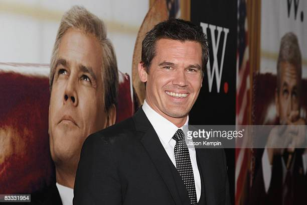 Actor Josh Brolin attends the Lionsgate New York Premiere of 'W' at the Ziegfeld Theater on October 14 2008 in New York City