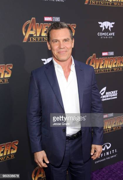 Actor Josh Brolin attends the Los Angeles Global Premiere for Marvel Studios' Avengers Infinity War on April 23 2018 in Hollywood California