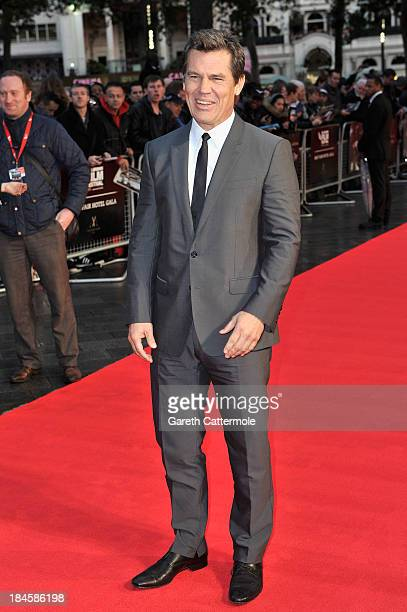 Actor Josh Brolin attends the Mayfair Gala European Premiere of 'Labor Day' during the 57th BFI London Film Festival at Odeon Leicester Square on...