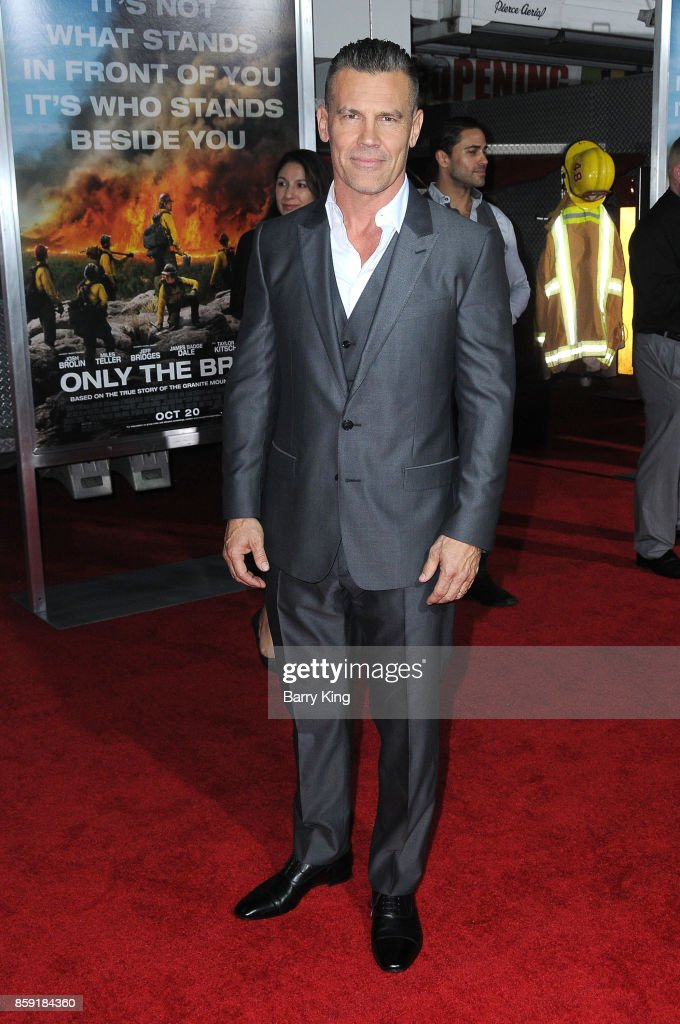 Actor Josh Brolin attends the premiere of Columbia Pictures' 'Only The Brave' at Regency Village Theatre on October 8, 2017 in Westwood, California.